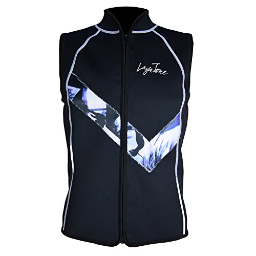 Layatone Wetsuit Vest Top Premium 3mm Neoprene Top Diving Surfing Canoeing Suit Top Vest Men Women Zipper Scuba Wet Suits Men