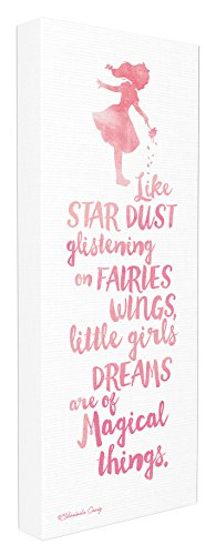 Stupell Home Décor Little Girls Dream of Magical Things Stretched Canvas Wall Art, 10 x 1.5 x 24, Proudly Made in USA