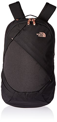 The North Face Womens Isabella Backpack TNF Black Heather / Burnt Coral - Sunglasses Face The North