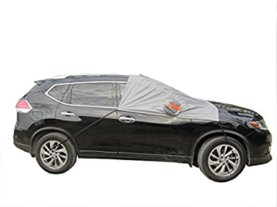 Your All Weather Protector -Tie Down Snow Cover - Weatherproof your Windshield, Wipers and Mirrors from Ice, Snow, Sleet and Frost - Fits Most Cars and Medium SUVs