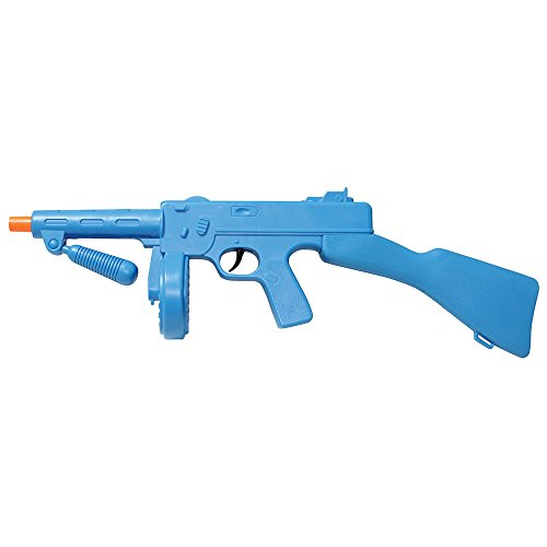 Blue Plastic Tommy Gun Prop