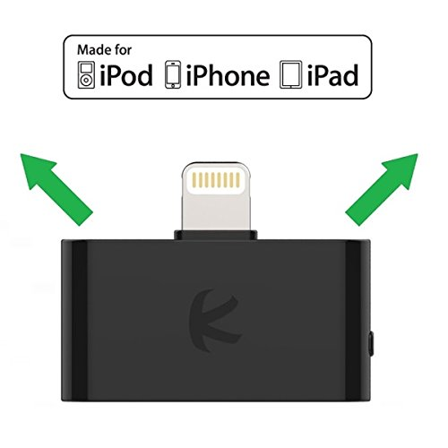 KOKKIA i10L : Digital Bluetooth Splitter Transmitter for iPhone, iPad, iPod Touch with Lightning Connector. Works Well Streaming to 2 Sets of Apple AirPods (or 2 Sets Bose Headphones/Speakers, etc).