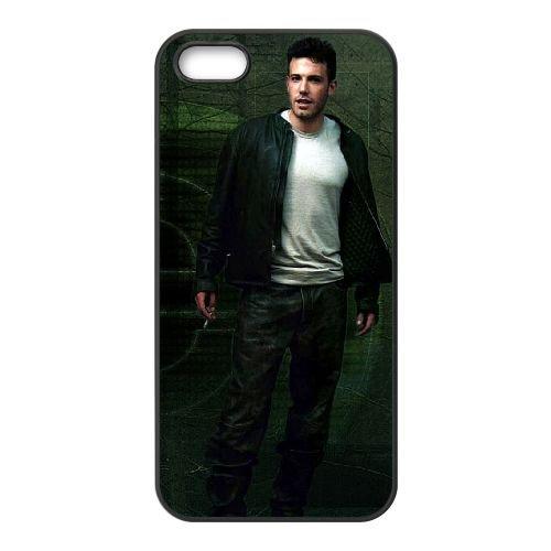 Ben Affleck 002 coque iPhone 5 5S cellulaire cas coque de téléphone cas téléphone cellulaire noir couvercle EOKXLLNCD22132