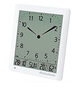 Britta Products Franklin CL-1 Large Format 10 Atomic Digital-Analog Wall Clock with Day Date, Temperature and Humidity