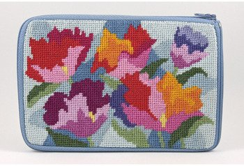 - Cosmetic Purse - Watercolor Poppy - Needlepoint Kit