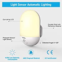 Night Light Plug in Wall with Dusk to Dawn Photocell Techole LED Night Light