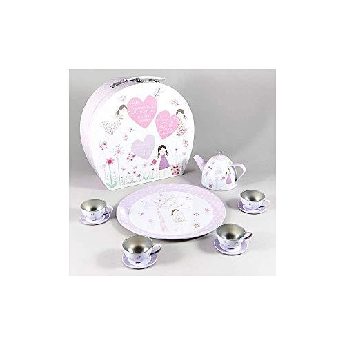 Floss & Rock 11-Piece Tin Tea Set - Fairy Blossom ()