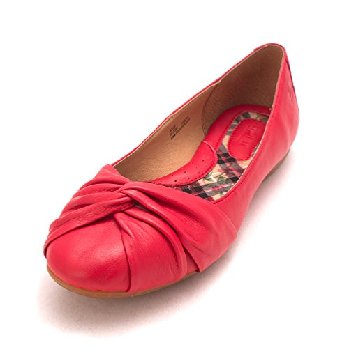 liily C Red Slide Toe O Womens Flats B Closed FHqptZw