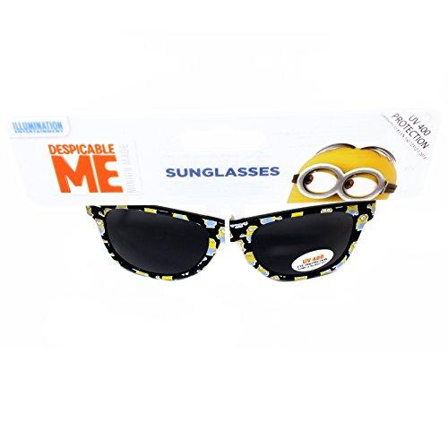 Lunettes de soleil protection UV 400 Sous Licence Officielle de Détestable moi Pour garçons Noir