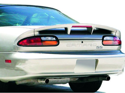 Bright Pewter Parts (Chevrolet Camaro SS Rear Wing Trunk Spoiler Pre-painted 11/WA382E Pewter Metallic 1993-2002 Factory Style with LED JSP 339043)