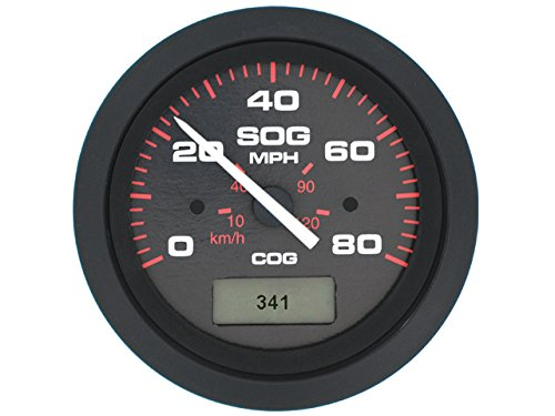 Sierra International 781-579-080P Amega Gauge, 3 inch 80 mph GPS Speedometer 80 Mph Speedometer Gauge