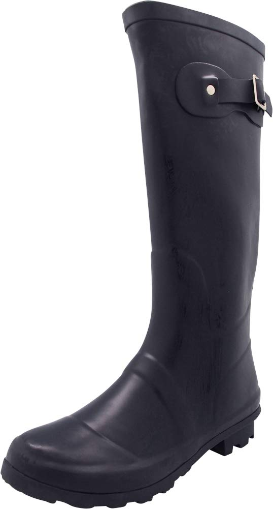 NORTY - Womens Hurricane Wellie Solid Matte Hi-Calf Rain Boot, Navy 40710-8B(M) US