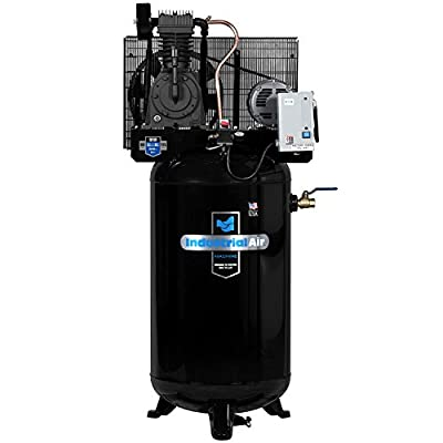 Industrial Air IV5038055 Vertical 80 gallon Two Stage Cast Iron Industrial Air Compressor