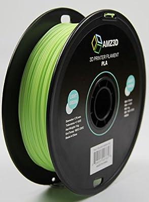 1.75mm Light Green PLA 3D Printer Filament - 1kg Spool (2.2 lbs) - Dimensional Accuracy +/- 0.03mm