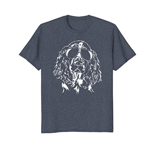 Springer Spaniel Gifts - Mens Funny English Springer Spaniel T-Shirt dog tee Shirt gift Large Heather Blue
