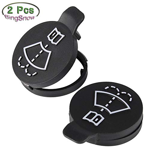 (BingSnow 2 Pcs Windshield Wiper Washer Fluid Reservoir Tank Bottle Caps for Chevrolet Buick and GMC, Replacement OEM: 13227300)