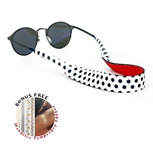 Kiwawa Floating Sunglasses Strap - The Premium Eyewear Retainer designed to float made with soft and durablee floating neoprene material, securing your glasses, glasses and eyewear (Dot Dot) by Kiwawa