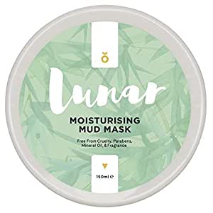 Moisturising Mud Mask by Lunar Glow - A Healing and Reviving Bentonite Clay Face Mask - 5 fl.oz / 150ml