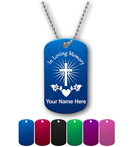 Military Style ID Tag, in Loving Memory, Personalized Engraving Included ()
