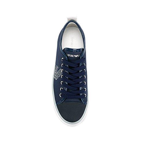 Emporio Femme Baskets Mode Bleu Logo Armani Pump 8H8S0q