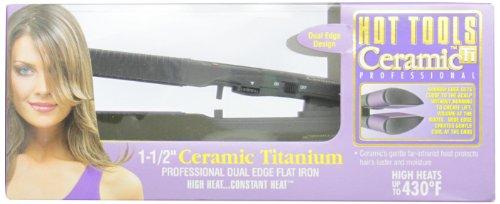 Hot Tools Professional 1173 Dual Edge Ceramic+Titanium Flat Iron, 1 (Hot Tools Super Tool)