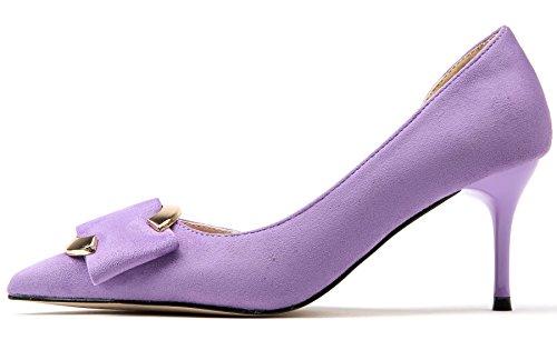 D'orsay Bigtree Alti Tacchi Viola Con Scarpe Sandali Donna Fibbia Elegante Vestito Punta Di Tacco Stiletto Metallo Dei 8AxxEqwI