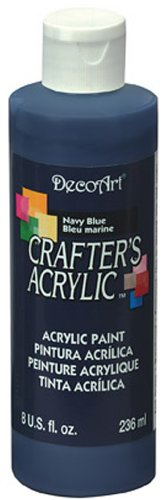 DecoArt DCA29-9 Crafters Acrylic, 8-Ounce, Navy Blue (Best Navy Blue Paint Color)