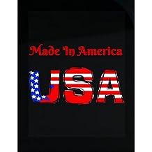 Patriotic Red Usa Made In America - Sticker