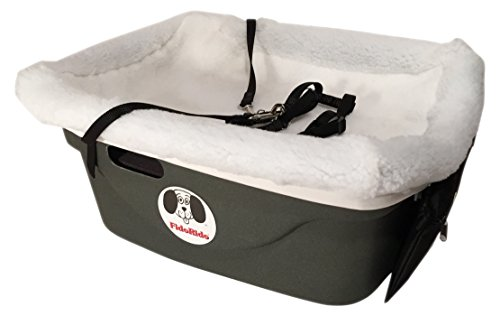 Cheap FidoRido Pet Car Seat with White Fleece Cover