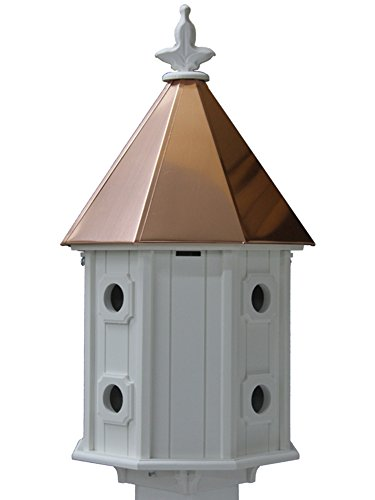 Shiny Copper Roof - Two-story Birdhouse Copper Roof Made In the USA