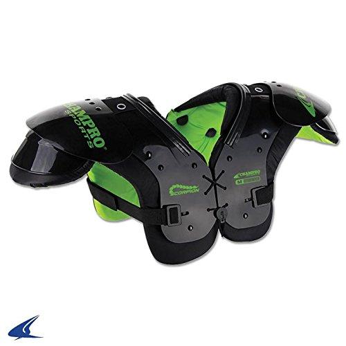CHAMPRO Sports Scorpion Shoulder Pad, Under 40 lbs, Black