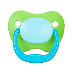 Amazon Brand – Mama Bear Baby Pacifier, Stage 2 (6-12M), BPA Free, Assorted Colors (Pack of 4)