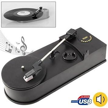 Wewoo convertidor de Vinilo Negro EC008B, USB Mini fonógrafo ...