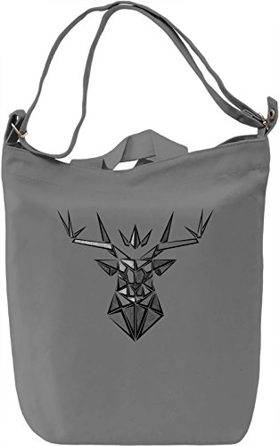 The Crowned Stag Borsa Giornaliera Canvas Canvas Day Bag| 100% Premium Cotton Canvas| DTG Printing|