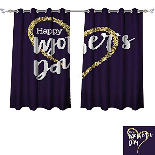 Sturbridge Light 6 (DragonBui Blackout Grommet Curtains Happy Mother Day Greeting Banner for Your Congratulations Cards The Large Hand Drawing Heart with go 3 Layers High Density & Noise Reduction Fabric W72 x L45/Pair)