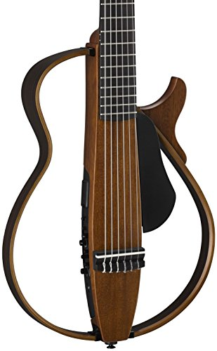 Yamaha SLG200N NT Nylon Silent Guitar 2015 New Model (Natural) w/ Gig Bag, Stand, and - Guitar Stand Nylon