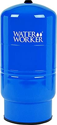 WaterWorker HT-32B Vertical Pressure Well Tank, 32-Gallon Capacity, Blue