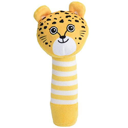 Gbell Developmental Rattle For Infants,Soft Animals Hand Bells Musical Baby Bed Educational Toys For 0-3 Year Olds (A) ()