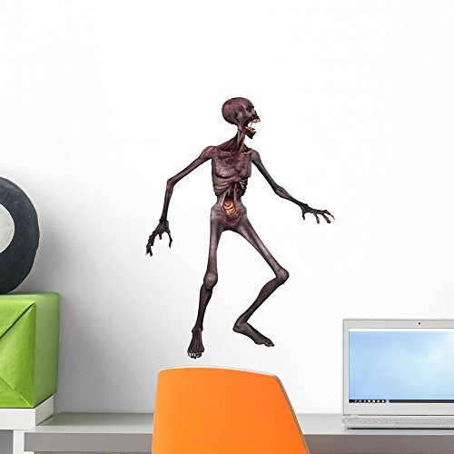 Wallmonkeys Zombie Halloween Figure Wall Decal Peel and Stick Graphic (18 in H x 14 in W) WM7332]()