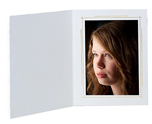 White 4''x6'' photo folders Casablanca - 400 pack.
