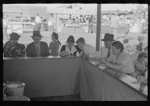 Photo: Game of bingo,state fair,Donaldsonville,Louisiana by Infinite Photographs