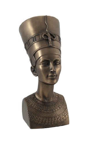 Egyptian 7-Inch Bronze Nefertiti Collectible Figurine