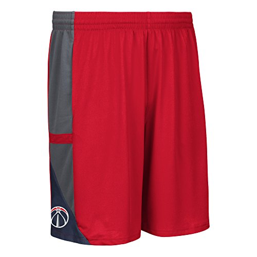 fan products of NBA Washington Wizards Men's Tip-Off Mesh Shorts, X-Large Red