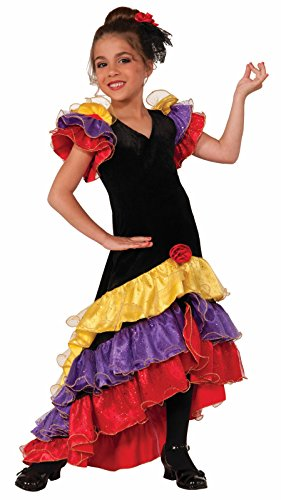 Forum Novelties Flamenco Dancer Costume, Large (Flamenco Dance Costumes For Girls)