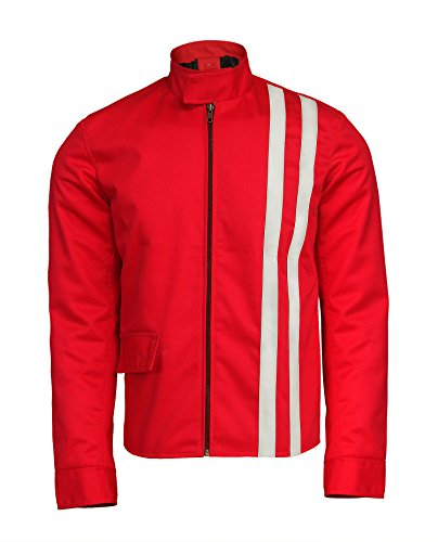 Red Classical Speedway Biker Red ()