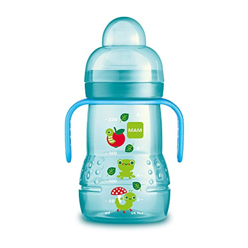 (MAM Trainer Cup, Trainer Cups for Babies with Handles, Boy, 8 Ounces, 1-Count )