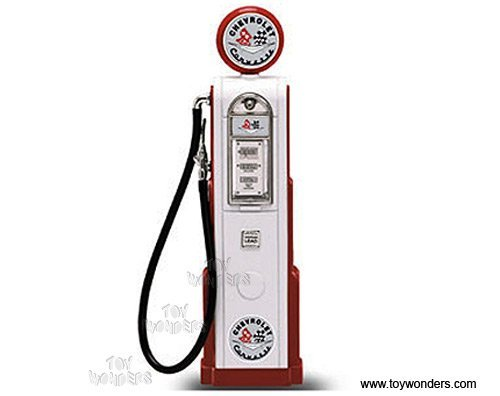DiecastTW - Digital Gas Pump Chevy Corvette (1/18 scale diecast model, White) 98671 diecast motorcycles and cars