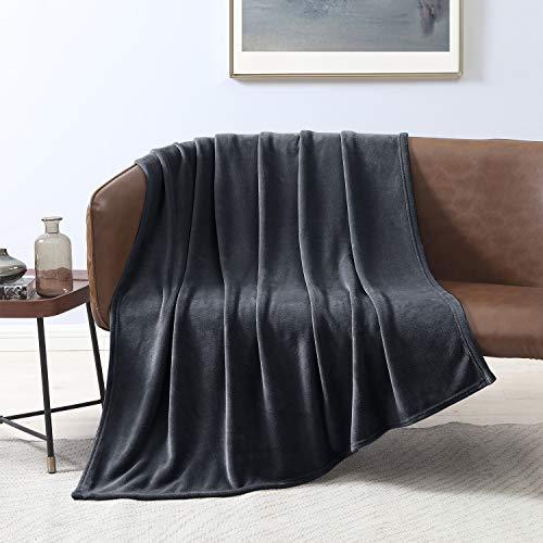 - Lovescabin Flannel Fleece Luxury Black Blanket Twin Size, Super Soft Double Side Warm Blanket, Cozy Microfiber All Season Blanket Couch