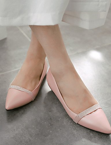 De Mujeres zapatos beige morado Cn36 Casual Señaló Plano Flats Uk4 Negro us6 Pdx rosa Eu36 Talón Purple Toe Las dqtwqO5