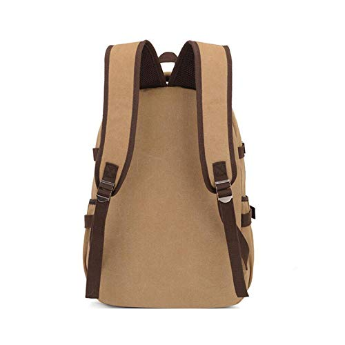 Dhfud Leisure Khaki Men's Bag Backpack Student Travel Computer Business rwxfrq4T